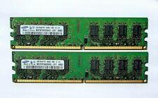 4GB (2 x 2GB) Samsung DDR2 2RX8 PC2-6400U 800MHz 240PIN DIMM RAM Desktop memory
