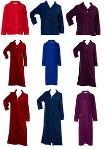 Slenderella Womens Bed Jacket or Dressing Gown Anti Pill Polar Fleece Nightwear