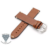Handmade Brown Vintage Leather Straps For Rolex Tudor and Seiko Watches + Tool