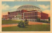 Independence Missouri~Reorganized Latter Day Saints Auditorium~RLDS~1940s Linen