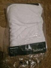 HABITAT Jersey White Double Duvet Cover