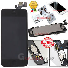 for iPhone 5 5g Black Touch Screen LCD Digitizer Replacement Home Button Camera