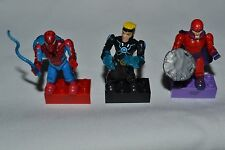 MARVEL MEGA BLOKS SPIDERMAN , MAGNETO , HAVOK LOOSE FIGURES