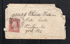 US #25A (1857) 3c Cover: Pleasant Mt,Pa to Steuben Cty, NY{Kennedy to Harrison}