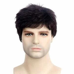Hair Natural Wigs For Men Full Head, Wigs for Boys (Free Size, Black)