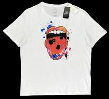 Men's ARMANI EXCHANGE A/X Street Art LOX T-Shirt Tee Shirt L Large NWT Mouth WoW