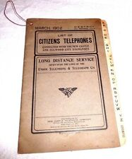 PHONE DIRECTORY LIST OF CITIZENS PHONES NEW CASTLE PA ELLWOOD CITY PA 1902