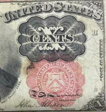 "1874 Us Fractional Currency ""Ten Cents"" Old Us Currency! Choice Fine!"