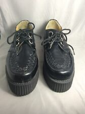 Tuk Black Leather Lace-up Platform Creepers Goth Men's Shoes Sz 11 USA 44 EU