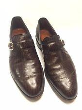 11.5 D Allen Edmonds Monk Strap Sharkskin Shoes