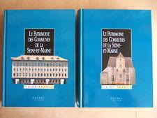 LE PATRIMOINE DES COMMUNES DE LA SEINE ET MARNE.  Editions FLOHIC.  2 TOMES NEUF