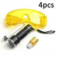 Car A/C System Leak Test Detector UV Flashlight Protective Set Tool Dye O8M2
