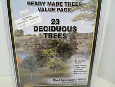 Woodland Scenics ready made trees Value Pack 23 trees mixed green colors