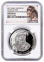 2017 Native Silver Dollar Choctaw Water Moccasin 1 oz Silver NGC Gem PF SKU52726