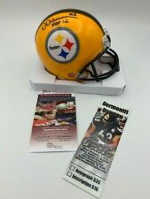 Dermontti Dawson Signed Pittsburgh Steelers Yellow Mini Helmet JSA - PIC-Ticket