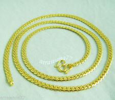 22K 23K 24K Thai Baht Yellow Gold Gp 24 inch Necklace Jewelry 16 Grams