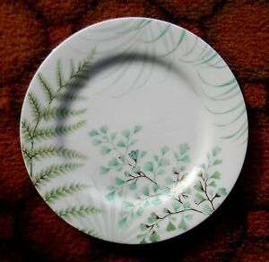Decorative China Leaf Plate with Gold Trim