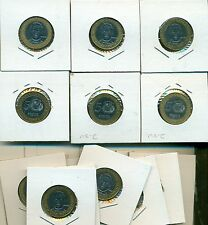 From Show Inv. - 25 NICE 1997 BI-METAL 5 PESO COINS from the DOMINICAN REPUBLIC