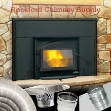 Napoleon 1101 Fireplace Insert Wood Burning + 6 in. x 15 ft. Chimney Liner Kit
