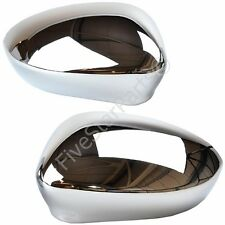 Fiat Grande Punto 08-on Chrome Door Wing Mirror Glass Covers New