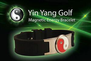 Yin Yang Golf magnetic energy bracelet bio power disc ball marker sport health R