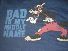 2XL  Big Bad Wolf  Men's Tee NWT Disney ~ Bad is my Middle Name ~  Disney XXL 2X