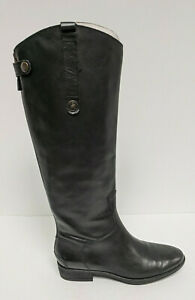 Sam Edelman Penny Riding Boots, Black Leather, Women's 8 Wide