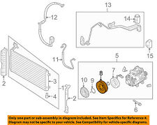 KIA OEM 09-10 Rondo 2.4L-L4 A/C AC Condenser/Compressor/Line-Pulley 976431D100