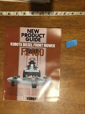 Kubota Diesel Front Mower F2400 New Product Guide - 9 Pages