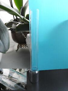 """tube globe ancien verre cheminée pour lampe à pétrole à huile 10"""" lignes cristal"""
