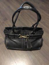 "COACH Hampton Hobo Grained Leather Bag Large Authentic 15"" X 10"" X 5"" VGC"