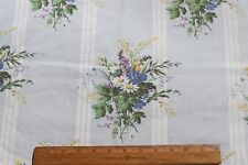 """Vintage French Country Floral Bouquets In Pale Blue Ground Cotton Fabric~49""""X24"""""""