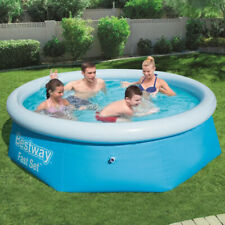 BESTWAY 8FT ROUND PADDLING GARDEN POOL FUN FAMILY SWIMMING OUTDOOR INFLATABLE