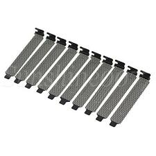 More details for 10x pci bracket slot cover dust filter pvc blank plate for computer case black