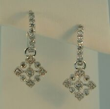 14K White Gold Diamond Snowflake Earrings-.55ctw