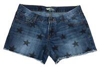 Old Navy The Diva Cut Off Jean Shorts Size 6 Stars Raw Hem Cut Off Blue Denim