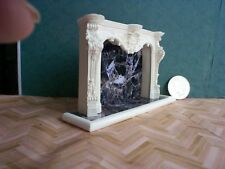 dollshouse grand fireplace mantel with hearth 1/12 scale miniature fire