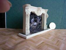 dollshouse grand fireplace mantel with hearth 1/12 scale miniature fire