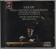 MOZART: PIANO CONCERTOS NOS.21 & 27 - BARENBOIM EMI UK BLACK MOTIF CD