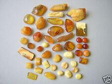 44 x Natur Bernstein Butterscotch-Honig Genuine Amber Schmuckverarbeitung 32,5 g