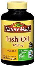 Nature Made Fish Oil 1200 mg Softgels 100 Soft Gels