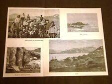 Groenlandia nel 1887 Donne del Kangerdluarsuck Capo Farewell Criolite Vigtut