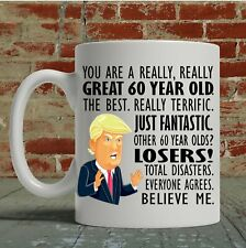 60th Birthday Gift Trump Mug For Him Her Funny Donald Coffee