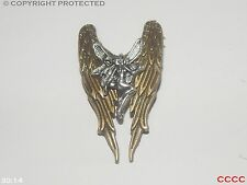 steampunk jewellery badge brooch bronze byzantine fairy angel wings fae fantasy