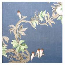 1950s BLUE BIRDS in the Window ORIGINAL Vintage Wallpaper 50s 1960s