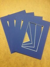 Oxford blue photo/Picture mounts pack of 10 various sizes