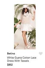 BETINA White Eyelet Long Tassle Dress or Top UK 10-12 £680