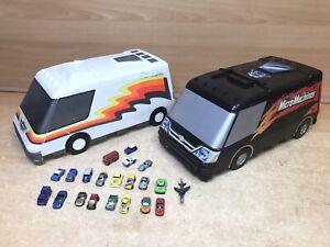 Micro Machines X2 Super Van City Playset 1991 Galoob With Cars Bundle