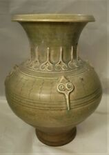 Antique SawankhalokThai fine vase 14 -15th cent 11.25 in h. from shipwreck