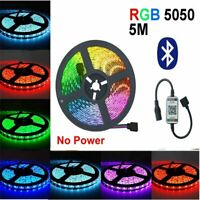 Waterproof RGB LED Strip Lights IP65 5050 5M 300 LEDs 12V + Bluetooth Controller
